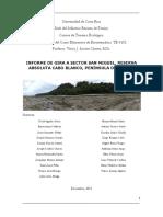 Informe de Gira Sector San Miguel Lab Biosistemática 2015 Final