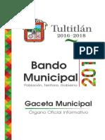 Bando Municipal Tultitlan 2016