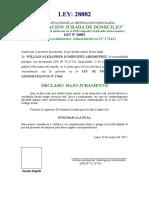 81236783 Declaracion Jurada Domicilio