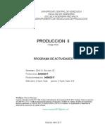 Programa Prod. II, Abr 2017
