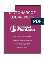 Social Work Dictionary from University of Montana