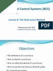Lecture 8-The Root Locus Method