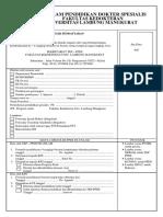 Formulir Pendaftaran Ppds Fk Unlam
