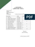 Format Daftar Hadir Ilmiah