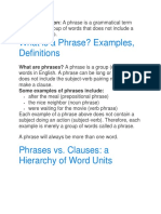Phrase Definition