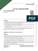 Indicaciones de Los Microtornillos en Ortodoncia.