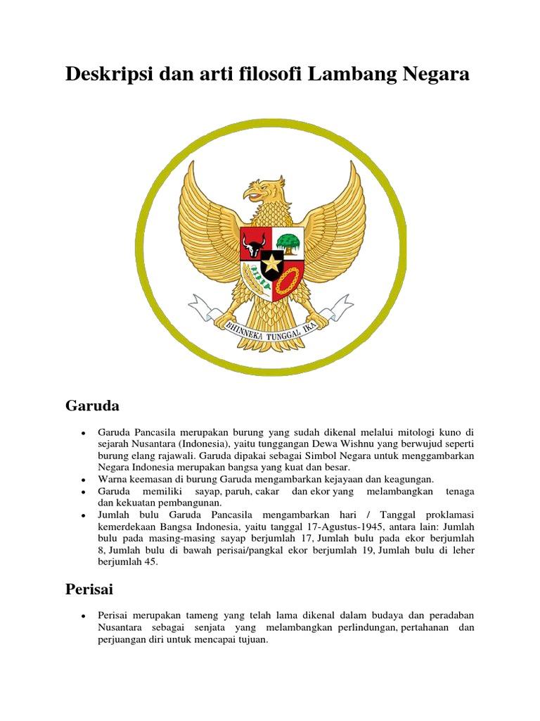 Deskripsi Dan Arti Filosofi Burung Garudadocx
