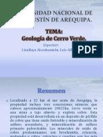 Geologia de Cerro Verde