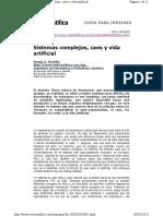 Sistemas Complejos, Caos y Vida Artificial