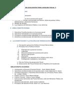 Temario de Evaluacion Para Auxiliar Fiscal II