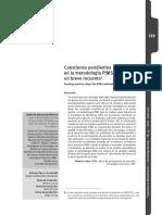 Articulo. A. Cuestiones pendientes en la metodologia PIMS, un breve recuento. Ruben M Mosqueda. 2010.pdf
