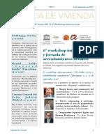 Agenda de la Cátedra UNESCO de Vivienda, Universidad Rovira i Virgili