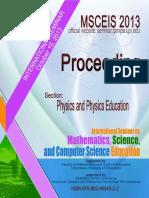 2. Proceeding Msceis 2013 Physics and Physic Edu