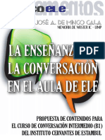 La Enseñanza de Conversación en La Clase de ELE - De Mingo