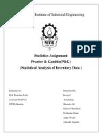 Statistics Assignment P&G Grp. 2