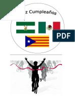 Oblea Banderas y Ciclista