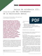 Conceptos básicos de ortodoncia (II). Indicaciones del tratamiento de la maloclusión dental