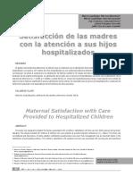 Satisfaccion De Las Madres Con La Atencion A Sus Hijos HospiTALIZADOS