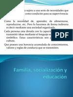 familia-socializacion y educacion