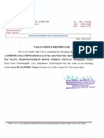 Valuation Certificate