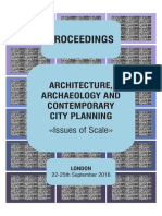 "Architecture Archaeology and Contemporarary City Planning, ""Issues of Scale"" - Proceedings 2016"
