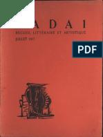 Dada Magazine # 1