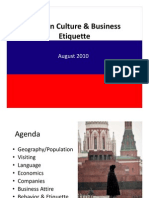 Russian Culture and Business Etiquette