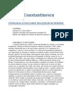 Nicolae Constantinescu - Etnologia Si Folclorul Relatiilor de Rudenie