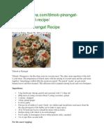 Tilmok or Pinangat Recipe.docx