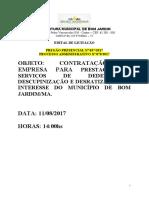Edital Pp 37- Dedetização
