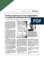 El Comercio año 1997 - Nacionalidad Fujimori