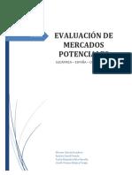 Evidencia Evaluacion de Mercados