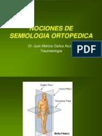 Nociones de Semiologia Ortopedica