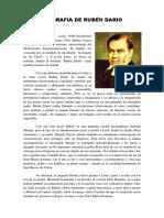 Biografía de Rubén Dario