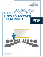 Top EMBA Essay Tips Final