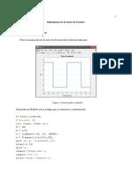 Laboratorio 1 Telecomunicaciones 1 Simulación serie de Fourier