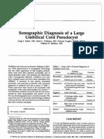 1997 Sonographic Diagnosis