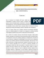 Ord. Que Reforma Los Limites Urbanos en La Cabecera Matriz y Las Cabeceras Parroquiales Del Canton Pangua.
