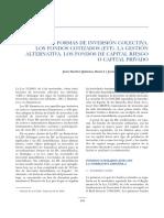 Nuevas Formas de Inversion Colectiva. Los Fondos Cotizados