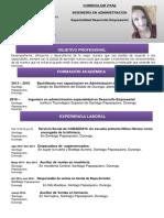 Curriculum Mireya Meza