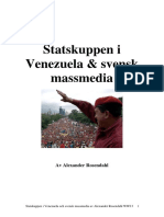 Statskuppen i Venezuela  i april 2002 i svenska massmedia