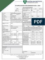 Aih Enrolment Form New-V15