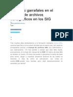 10 Fallos Garrafales en El Manejo de Archivos Cartográficos en Los SIG