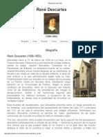 Biografía de Descartes