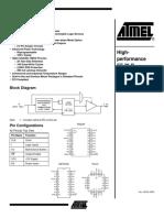 Atmel Atf16v8c Pld Datasheet Doc0425