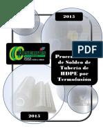 SIGC-PRO-OP-01 Procedimiento de Termofusión HDPE