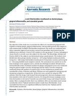 Triphala vs. Chlorhexidine