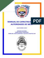 MANUAL Autoridades de mesa - Elecciones TDF