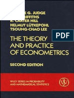 George G. Judge, William E. Griffiths, R. Carter Hill, Helmut Lütkepohl, Tsoung-Chao Lee-The Theory and Practice of Econometrics (Wiley Series in Probability and Statistics)-Wiley (1985)