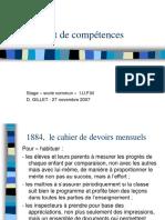 Le Livret de Competences D.gillet
